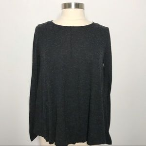 COS Heathered Gray Long Sleeve Top T-shirt Medium